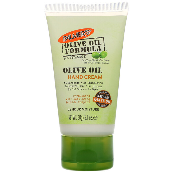 Olive Oil Formula, With Vitamin E, Hand Cream, 2.1 oz (60 g)