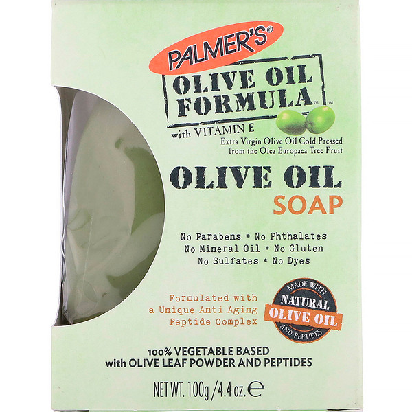 Palmer's, Olive Oil Formula with Vitamin E, Extra Virgin Olive Oil Soap, 4.4 oz (100 g)