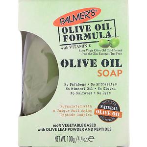 Палмерс, Olive Oil Formula with Vitamin E, Extra Virgin Olive Oil Soap, 4.4 oz (100 g) отзывы покупателей