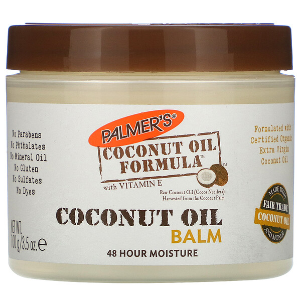 Coconut Oil Formula, Coconut Oil Balm, 3.5 oz (100 g)