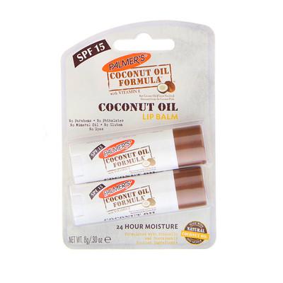 Palmer's 椰子油潤唇膏,SPF 15,2支,0.30盎司(0.8克)