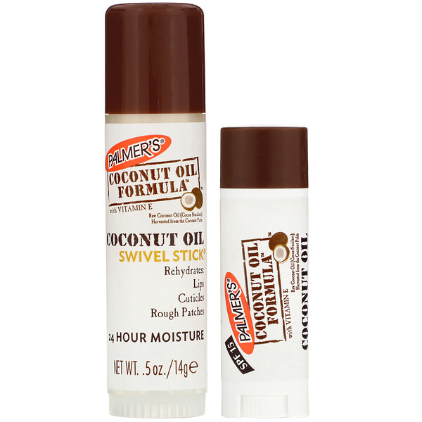 Palmer's, Coconut Oil Formula, Coconut Oil, Lip Balm & Swivel Stick, SPF 15, 2 Pack (Discontinued Item)