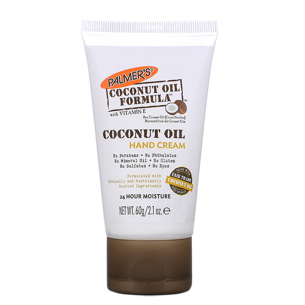 Coconut Oil, Hand Cream, 2.1 oz (60 g)