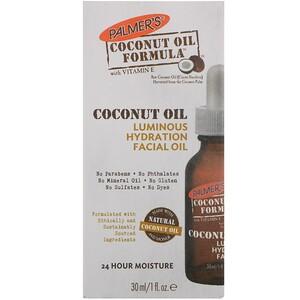 Палмерс, Coconut Oil Formula, Luminous Hydration Facial Oil, 1 fl oz (30 ml) отзывы