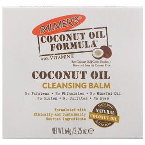 Palmer's, Coconut Oil Formula, Cleansing Balm, 2.25 oz (64 g) инструкция, применение, состав, противопоказания