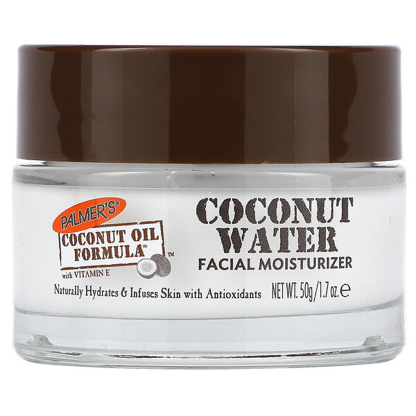 Coconut Oil Formula with Vitamin E, Coconut Water Facial Moisturizer, 1.7 oz (50 g)