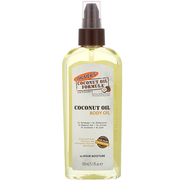 Coconut Oil Formula, Body Oil, 5.1 fl oz (150 ml)