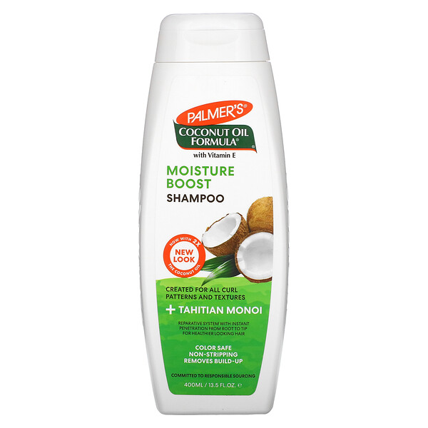 Moisture Boost Shampoo, Coconut Oil, 13.5 fl oz (400 ml)