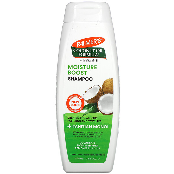 Coconut Oil Formula with Vitamin E, Moisture Boost Shampoo, 13.5 fl oz (400 ml)