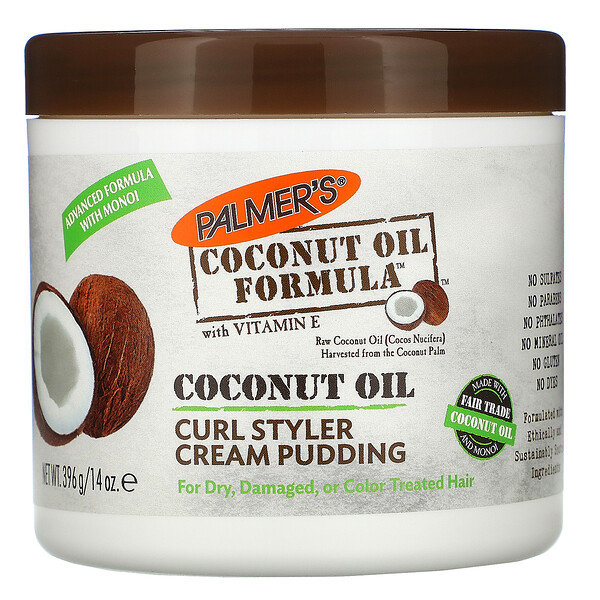 Curl Styler Cream Pudding, Coconut Oil, 14 oz (396 g)
