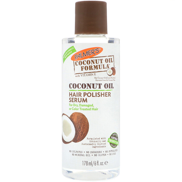 Coconut Oil Formula, Hair Polisher Serum, 6 fl oz (178 ml)