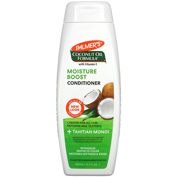 Coconut Oil Formula with Vitamin E, Moisture Boost Conditioner, 13.5 fl oz (400 ml)