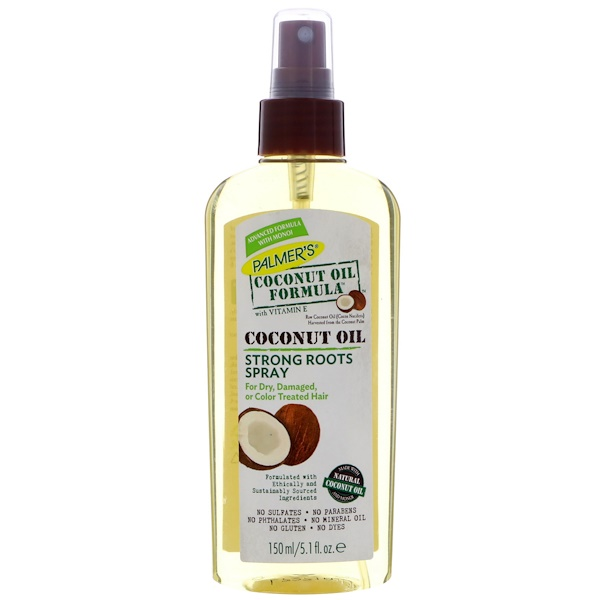 Coconut Oil Formula, Strong Roots Spray, 5.1 fl oz (150 ml)