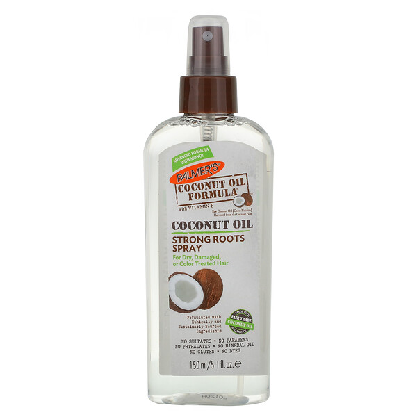 Coconut Oil Formula with Vitamin E, Strong Roots Spray, 5.1 fl oz (150 ml)