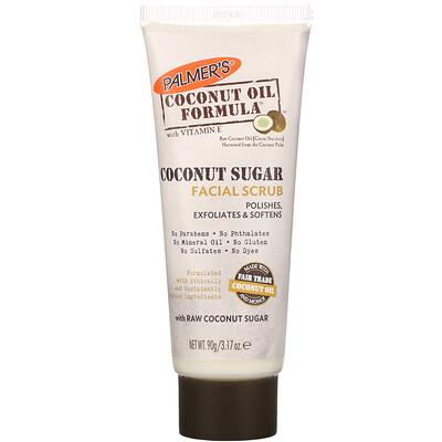 Palmer's Coconut Oil Formula, Coconut Sugar Facial Scrub, 3.17 oz (90 g)