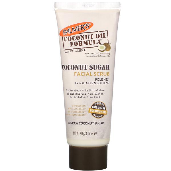 Coconut Oil Formula, Coconut Sugar Facial Scrub, 3.17 oz (90 g)