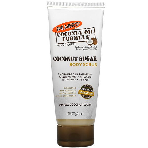 Coconut Oil Formula with Vitamin E, Coconut Sugar Body Scrub, 7 oz (200 g)