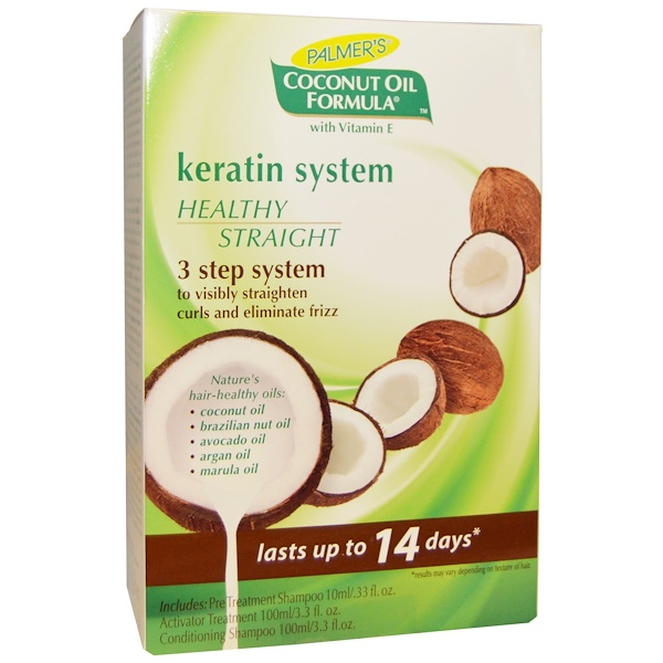 Palmer's, Coconut Oil Formula, Keratin System, Healthy Straight, 3-Step System  (Discontinued Item)