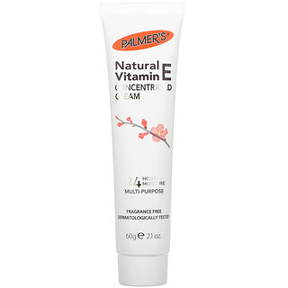 Palmer's, Natural Vitamin E Concentrated Cream, Fragrance Free, 2.1 oz (60 g)