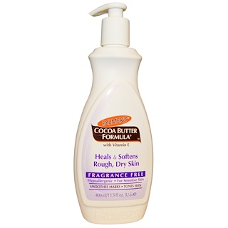Palmer's, Cocoa Butter Formula, Body Lotion, Fragrance Free, 13.5 fl oz (400 ml)