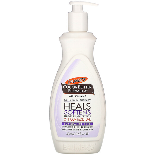 Palmer's, Cocoa Butter Formula with Vitamin E, Daily Skin Therapy, Fragrance Free, 13.5 fl oz (400 ml)