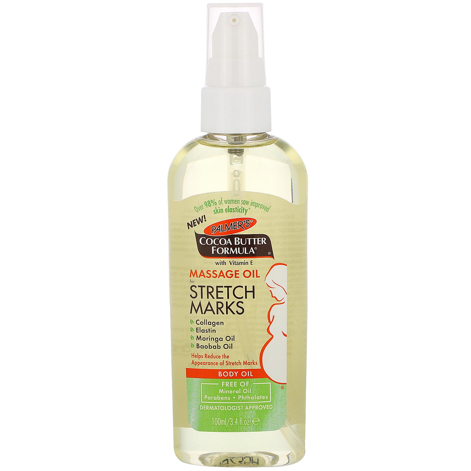 Palmer's, Cocoa Butter Formula, Massage Body Oil for Stretch Marks, 3.4 fl  oz (100 ml) - iHerb