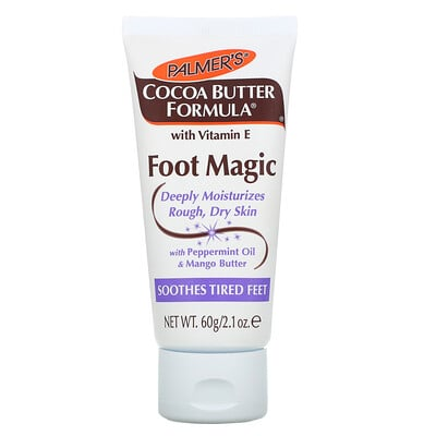 Palmer's Cocoa Butter Formula with Vitamin E, Foot Magic, with Peppermint Oil & Mango Butter, 2.1 oz (60 g)