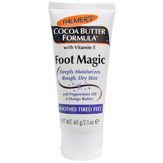 Palmer's, Fórmula de Manteca de Cacao, Foot Magic with Peppermint Oil & Mango Butter (Magia para los pies con aceite de menta y manteca de mango), 2.1 oz (60 g)