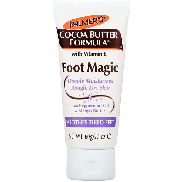 Cocoa Butter Formula, Foot Magic, with Peppermint Oil & Mango Butter, 2.1 oz (60 g)