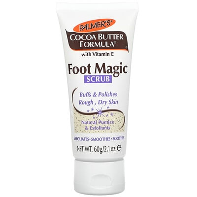 Купить Palmer's Coconut Butter Formula With Vitamin E, Foot Magic Scrub, 2.1 fl oz (60 g)