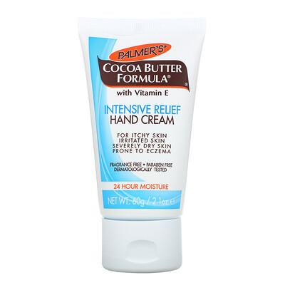 Palmer's Формула масла какао, крем для рук для интенсивной помощи, без запаха, 60 г (2,1 унции)