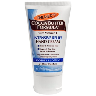 Palmer's, Cocoa Butter Formula, Intensive Relief Hand Cream, Fragrance Free, 2.1 oz (60 g)