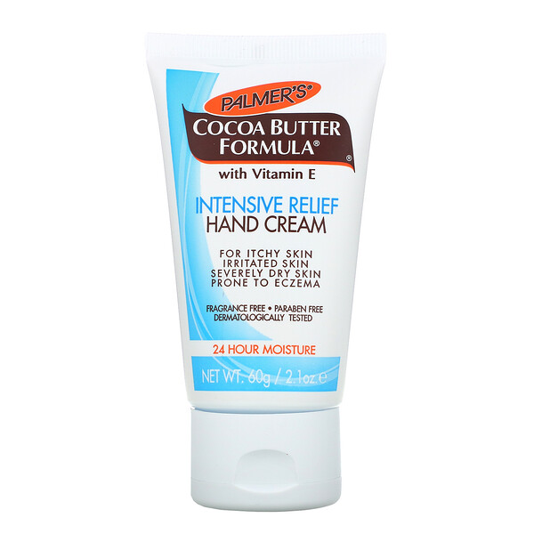 Cocoa Butter Formula with Vitamin E, Intensive Relief Hand Cream, Fragrance Free, 2.1 oz (60 g)