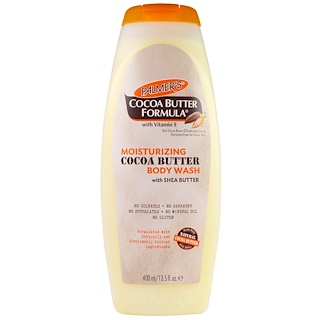 Palmer's, Cocoa Butter Formula with Vitamin E, Moisturizing Cocoa Butter Body Wash with Shea Butter, 13.5 fl oz (400 ml)