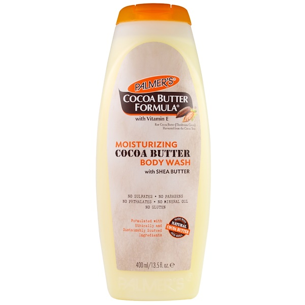 Palmer's, Cocoa Butter Formula with Vitamin E, Moisturizing Cocoa Butter Body Wash with Shea Butter, 13.5 fl oz (400 ml) (Discontinued Item)