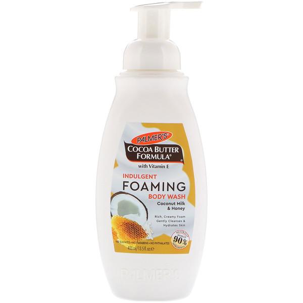 Palmer's, Indulgent Foaming Body Wash, Coconut Milk & Honey, 13.5 fl oz (400 ml) (Discontinued Item)