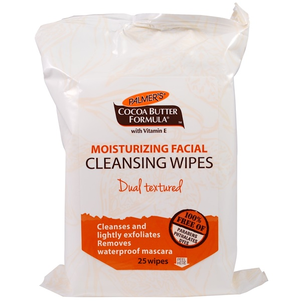 Palmer's, Cocoa Butter Formula, Moisturizing Facial Cleansing Wipes, 25 Wipes (Discontinued Item)