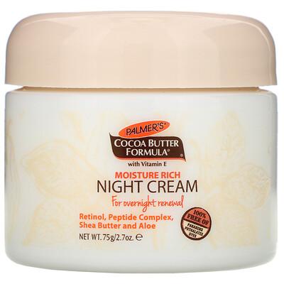 Формула с маслом какао, увлажняющий ночной крем, 2,7 унции (75 г) недорого