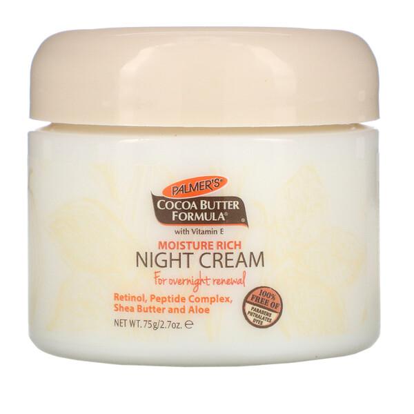 Cocoa Butter Formula, Moisture Rich Night Cream, 2.7 oz (75 g)