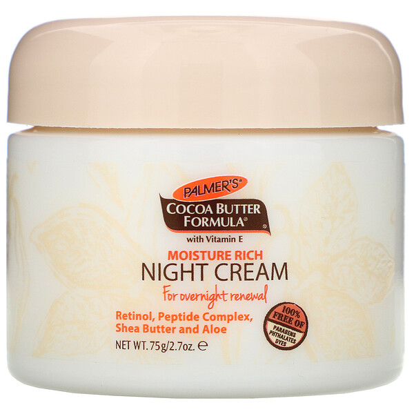 Cocoa Butter Formula, Moisture Rich Night Cream, 2.7 oz (75 g)