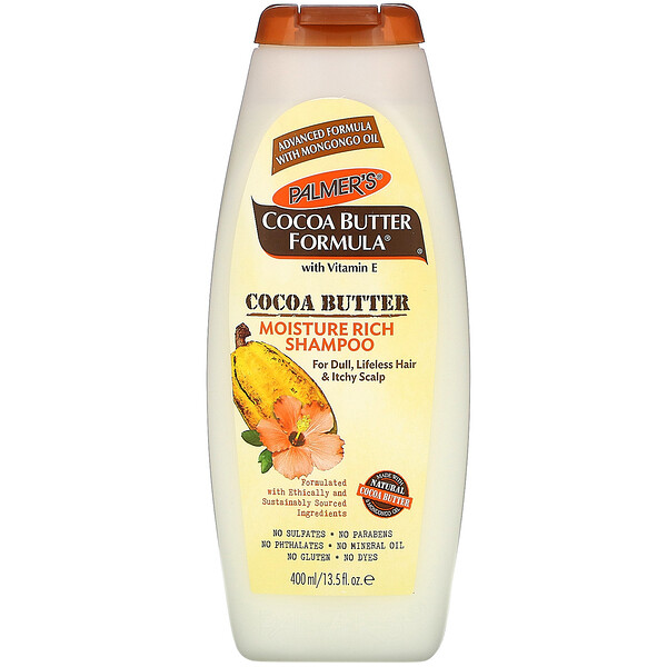 Cocoa Butter Formula with Vitamin E, Moisture Rich Shampoo, 13.5 fl oz (400 ml)