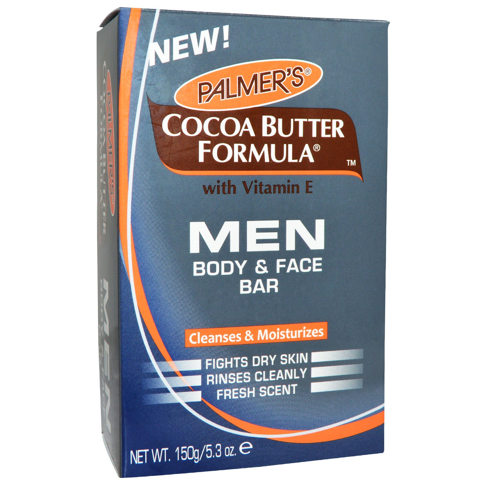 Palmer's, Мужская формула с какао-маслом, мыло для лица и тела, 5,3 унции (150 г)