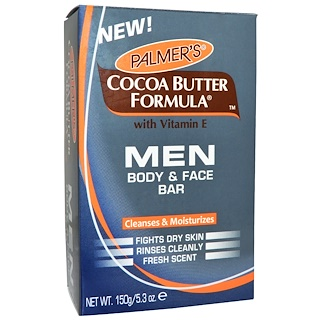 Palmer's, Cocoa Butter Formula, Men, Body & Face Bar, 5.3 oz (150 g)