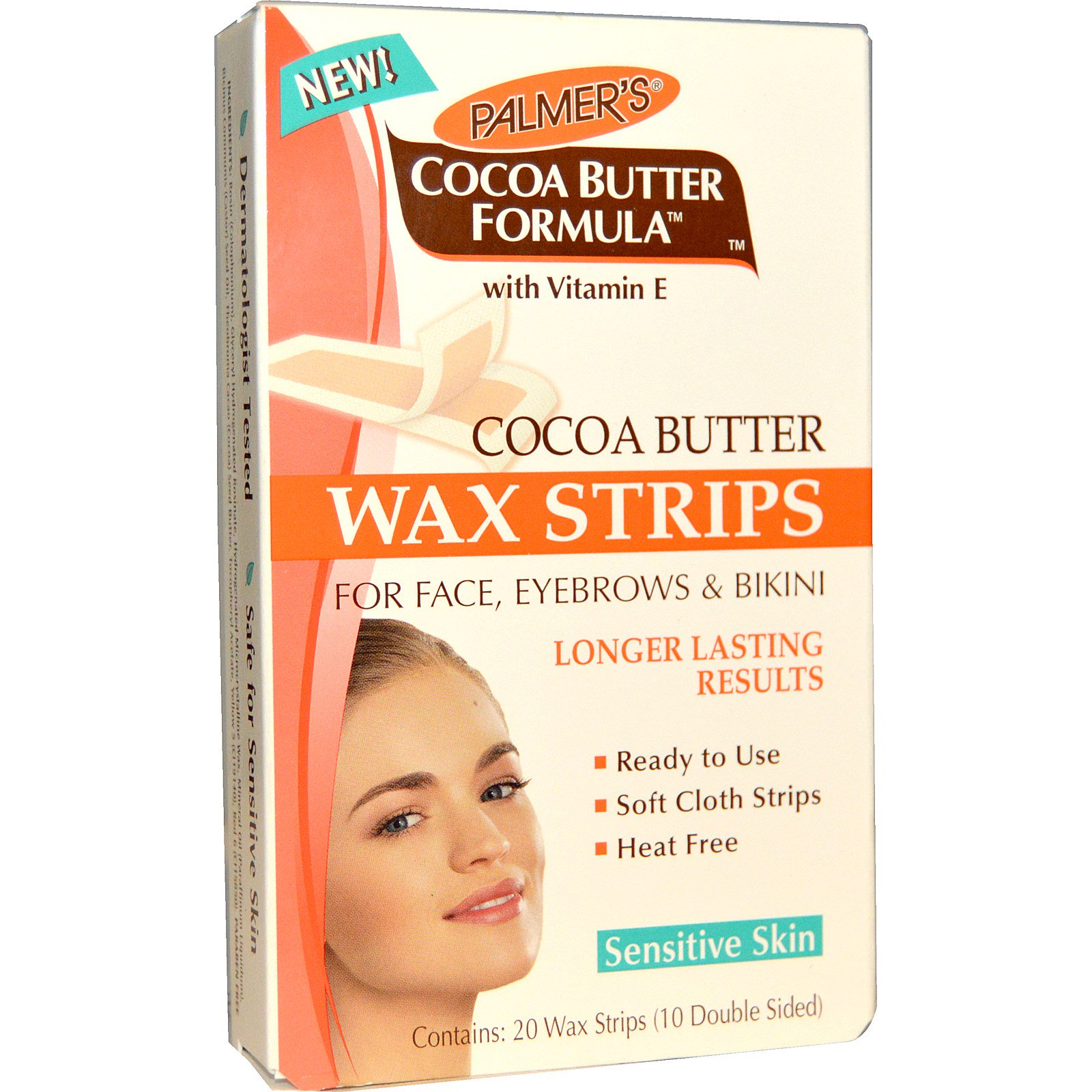 Palmer's, Cocoa Butter Formula, Wax Strips, For Face