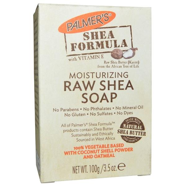 Palmer's, 乳木果油配方,原生態料乳木果油皂,含維生素 E,3、5 盎司(100 克)