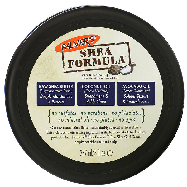 Palmer's, Shea Formula, Moisture Repair, Raw Shea Curl Cream, 8 fl oz (237 ml)