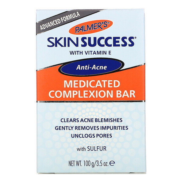 Palmer's, Skin Success, Anti-Acne, Medicated Complexion Bar, 3.5 oz (100 g)