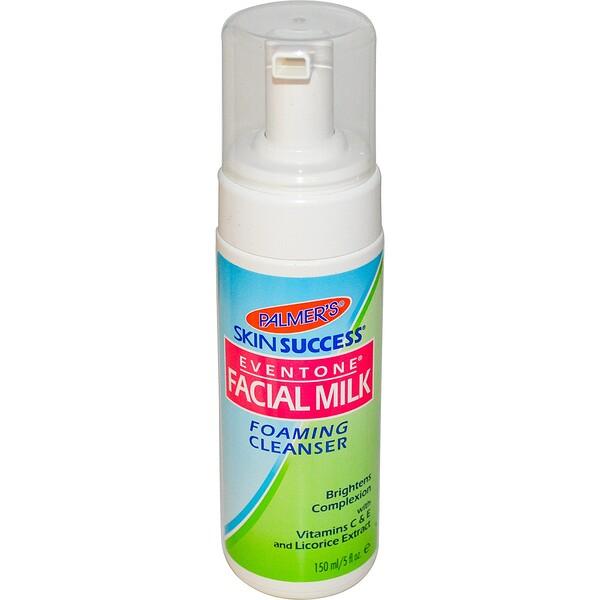 Palmer's, Foaming Cleanser, Eventone Facial Milk, 5 fl oz (150 ml) (Discontinued Item)