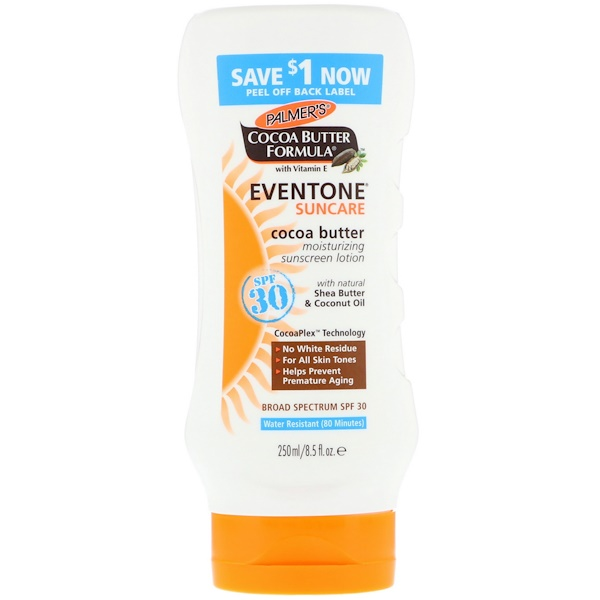 Palmer's, Cocoa Butter Formula, Eventone, Suncare, Cocoa Butter Moisturizing Sunscreen Lotion, SPF 30 , 8.5 fl oz (250 ml)