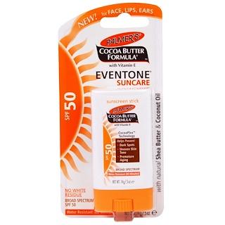 Palmer's, Cocoa Butter Formula, Eventone Suncare, Sunscreen Stick, SPF 50, .5 oz (14 g)
